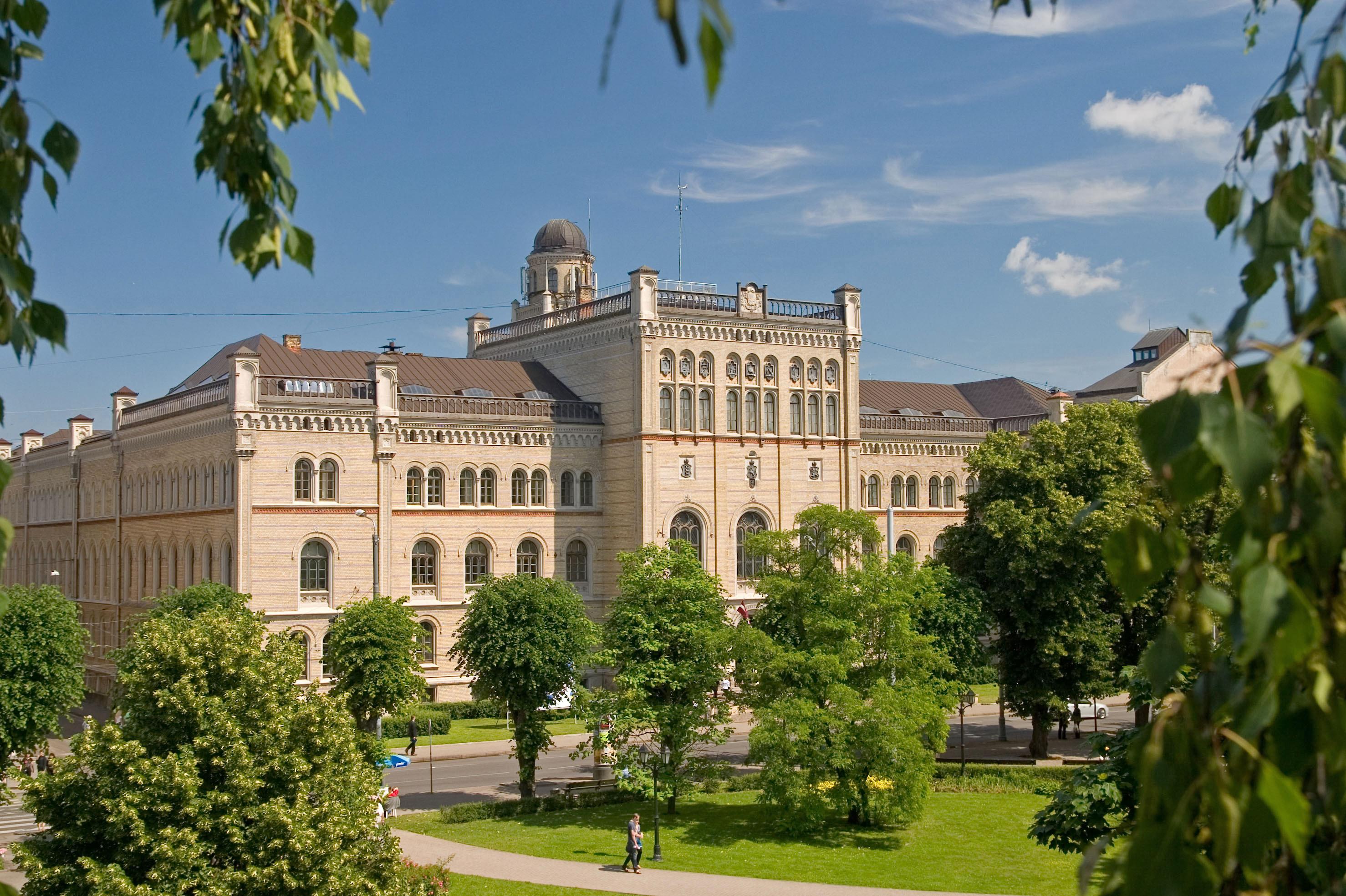 Latvijas Universitâtes galvenâ çka.